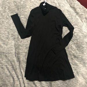 Black turtleneck shift dress